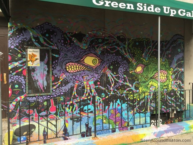 art mural green side up gallery allston massachusetts