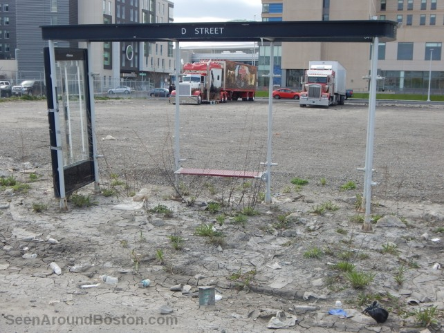 desolate bus stop d street southie boston