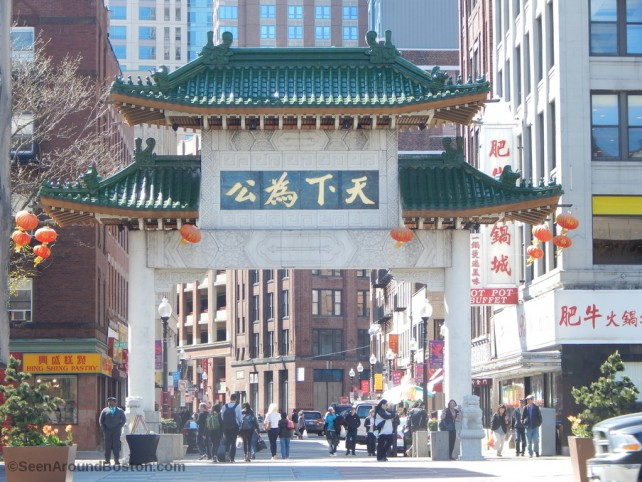 chinatown gate boston - paifang