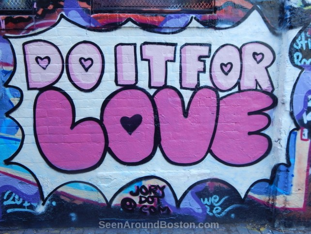do it for love wall mural, modica way cambridge