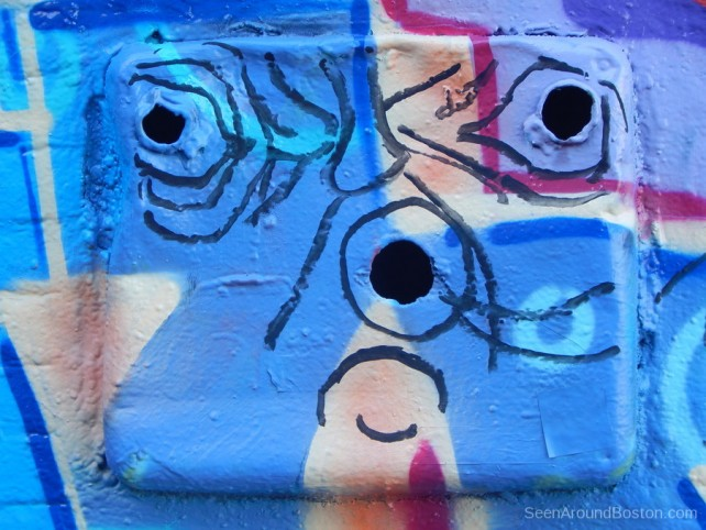 face on duse graffiti, street art cambridge