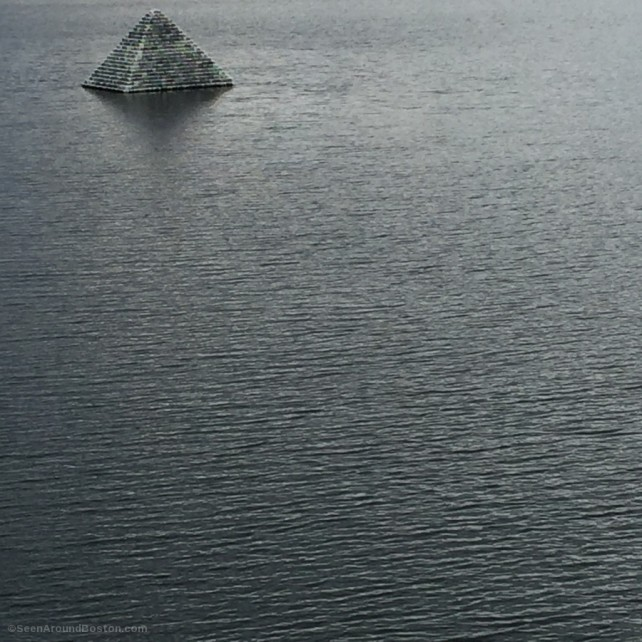 floating boston cobblestone pyramid fort point channel