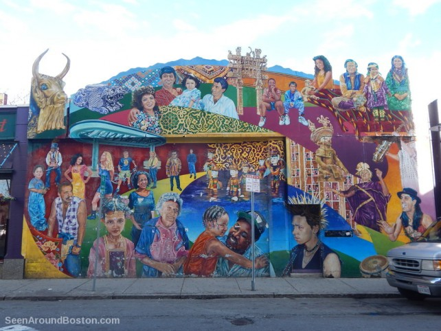 middle east wall mural, crosswinds by daniel galvez, brookline street cambridge