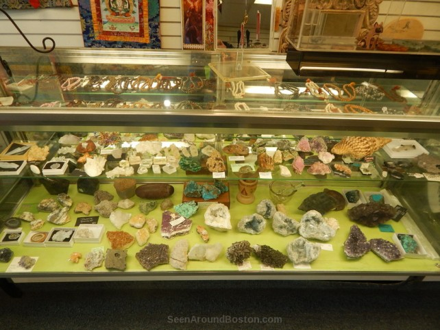 mieral crystals and jewelry at ritual arts store allston