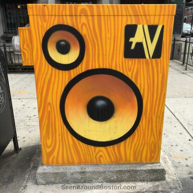 Speaker painted traffic control box, allston
