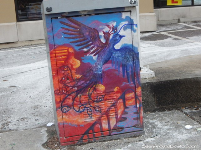 two headed bird painted switch box