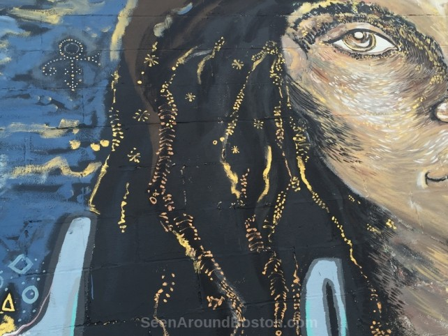 close up woman face on fearless collective belonging mural