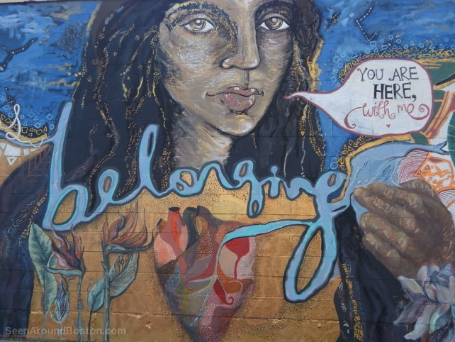 belonging mural you are here with me