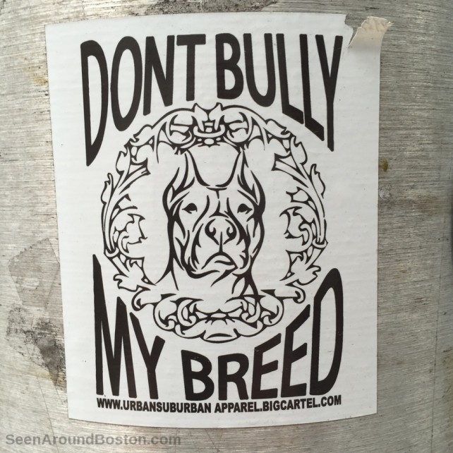 don't bully my breed pit bull slap sticker