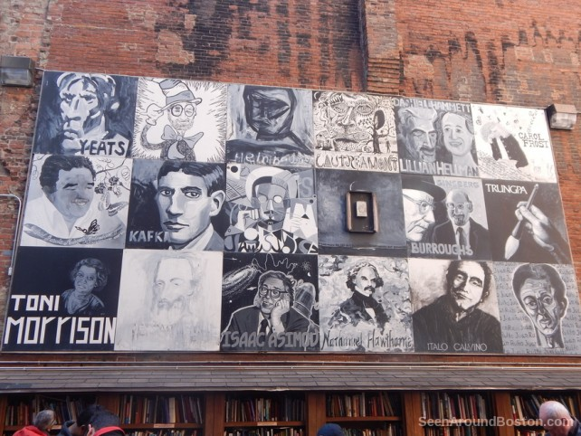 famous authors mural, brattle book shop boston