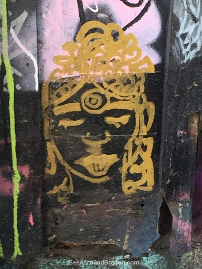 shiva face street art modica way