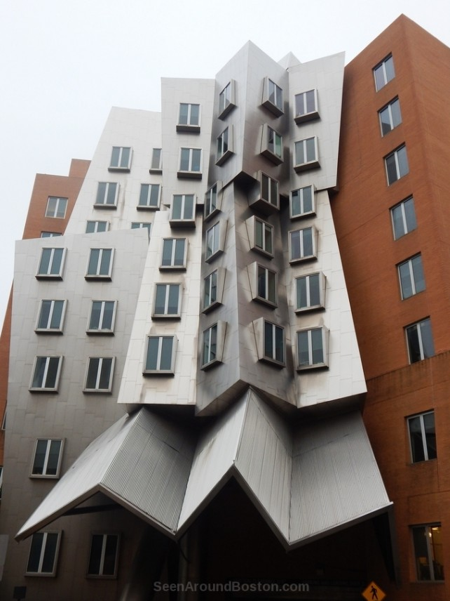 front view stata center ugly building