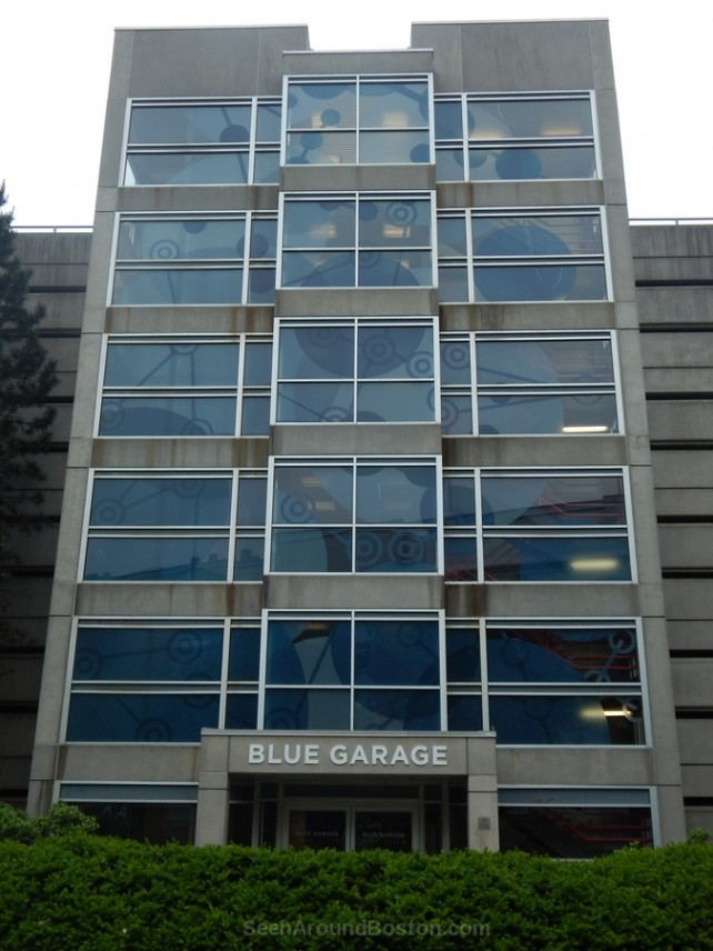 blue garage building, kendal square cambridge ma