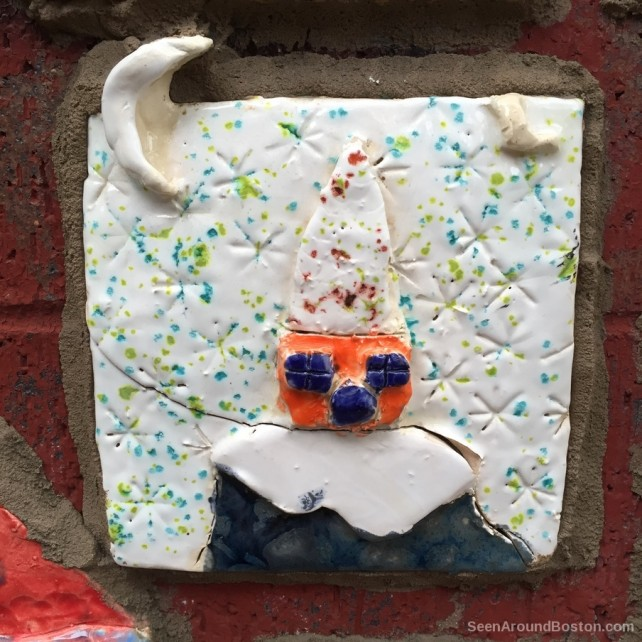 wizard clay tile art, cambridgeport school