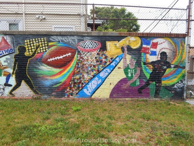 boston sports mural, jamaica plain