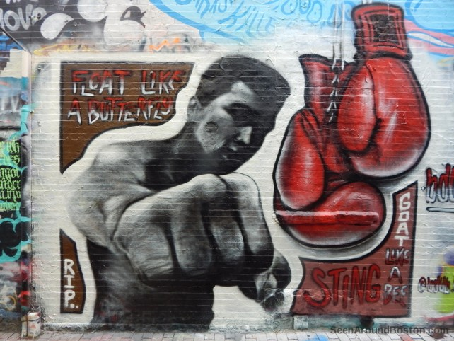 muhammad ali tribute mural, modica way cambridge ma