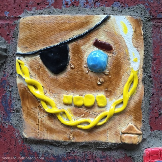 ceramic clay pirate face