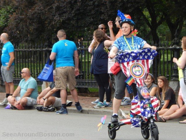 trike at boston pride parade