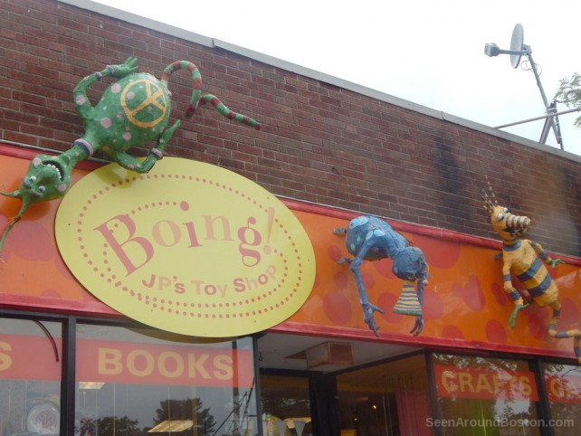 boing toy shop sign, jamaica plain boston