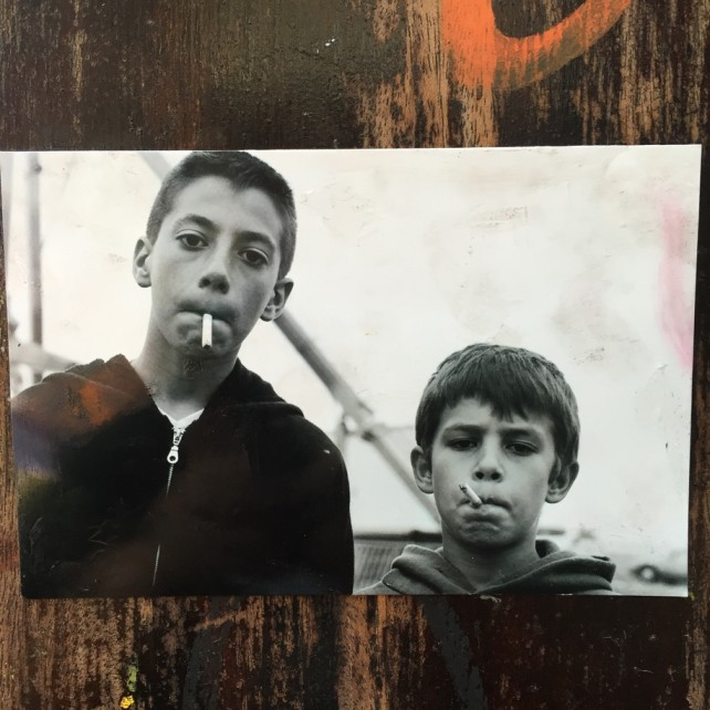smoking kids photo